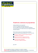 Propositions Les acteurs du logement d'insertion